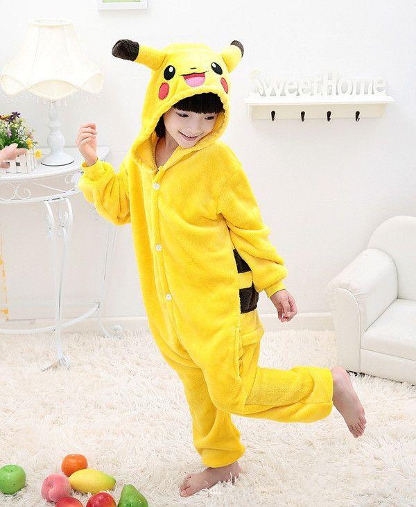 $20 Children Pokemon Pikachu Dinosaur Onesie Kids Girls Boys Warm Soft Cosplay Pajamas One Piece Sleepwear Halloween Costumes-in Clothing from Novelty & Special Use on Aliexpress.com | Alibaba Group