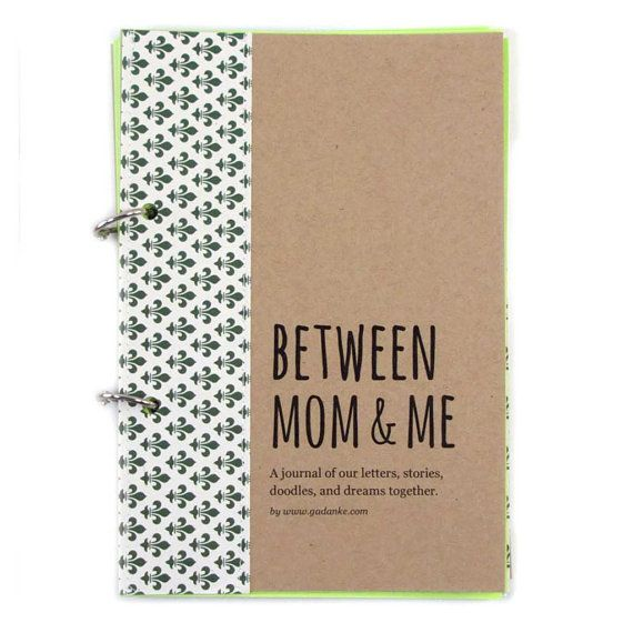 "Mother Son connection Journal, Diary, Scrapbook. Mother son bond, writing prompts, boy activities ""Between Mom and Me"" in beige"