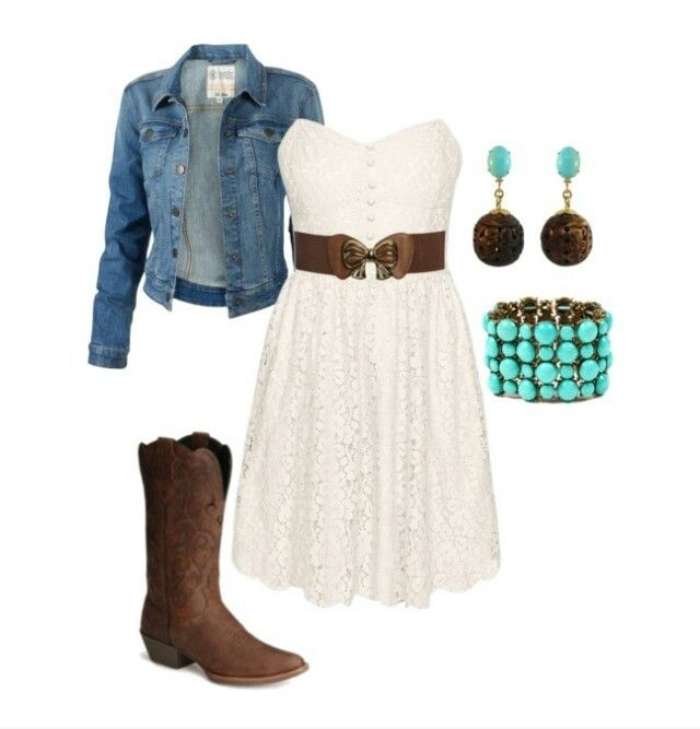 Cute outfit with cowgirl boots soo cute!