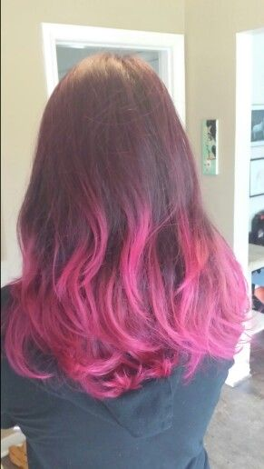 Ombre with Manic Panic's Hot Hot Pink.