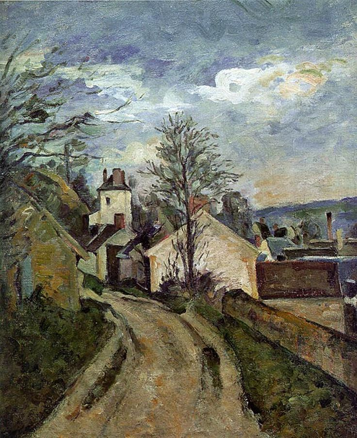 The House of Dr. Gachet in Auvers 1872-1873 byPaul Cezanne.