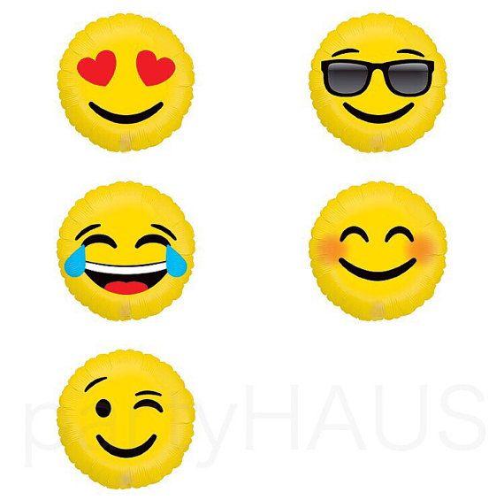 Emoji Balloons Emoticon Balloon 18 Love Smiley LOL by PartyHaus