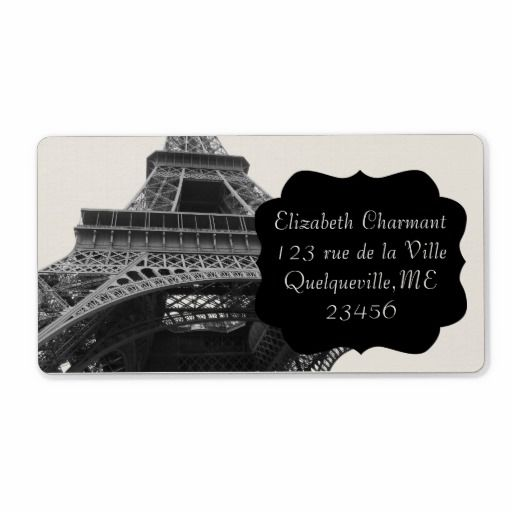 sold 5 sheets of Paris Eiffel Tower Vintage Bracket Custom Shipping Address Labels!