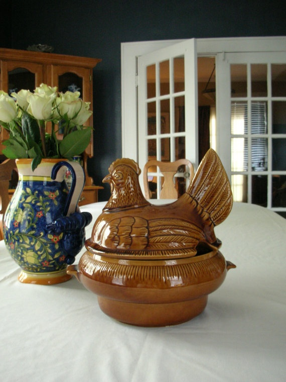 California Pottery Hen Just Because Mccoy Pottery Chickens Roosters Pottery