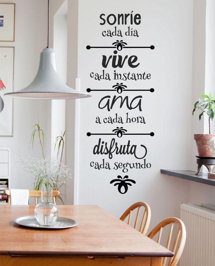 M s de 25 ideas incre bles sobre frases para pared en - Que cuadros poner en el dormitorio ...