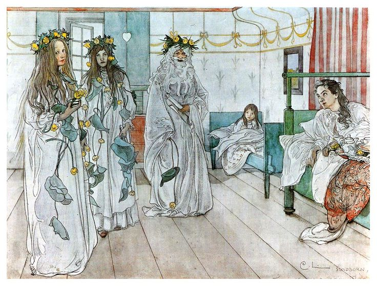 For Karins name day  Artist: Carl Larsson  Completion Date: 1899