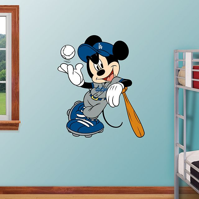 Mickey Mouse   Los Angeles Dodgers REAL BIG  Fathead   Peel   Stick Wall. 17 Best ideas about Mickey Mouse Wall Decals on Pinterest   Mickey