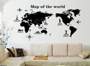 oltre 25 fantastiche idee su mappa camera da letto su pinterest ... - Decorazioni Muro Camera Da Letto