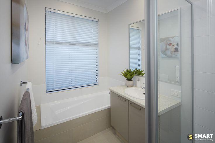 The main bathroom of The Apex boasts simplistic elegance.