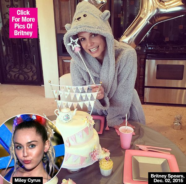 Britney Spears Celebrates Birthday With Epic Gift From Miley Cyrus —Pic
