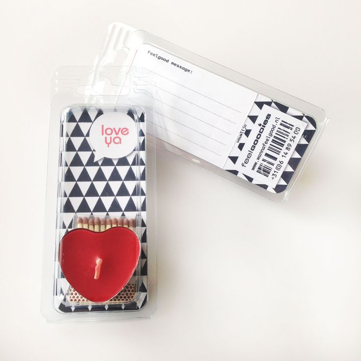 #Valentine #Love. Love Ya - Feelgoodie. Wenskaartje incl. wenslichtje in de vorm van een hartje. Achterop ruimte voor een anonieme #Valentijn wens.
