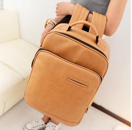 new 2016 College Wind leather Backpack men backpacks women backpack men travel bags school backpacks Laptop bag