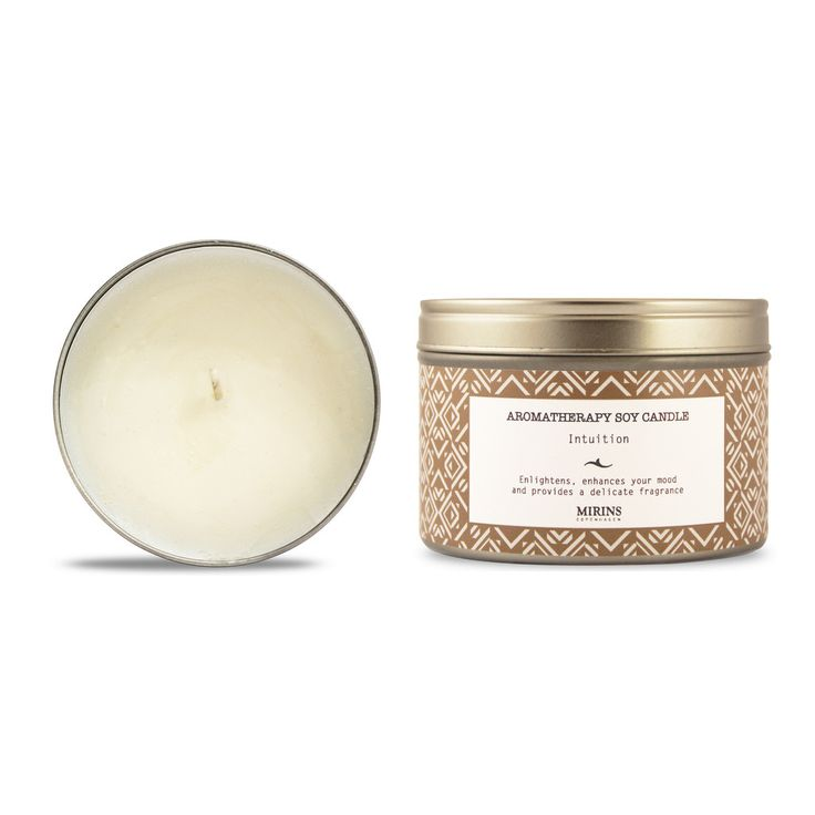 Soy Candle - Intuition - Patchouli, Rosewood Enlightens, enhances your mood and provides a delicate fragrance.  Our Intuition aromatherapy line consists of a warming blend of Patchouli, Rosewood and Geranium essential oils.