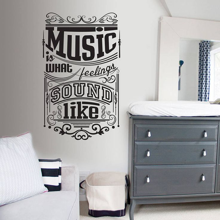 Music is what feelings sound like wall decal for my less ordinary living room from @notonthehighstreet.com