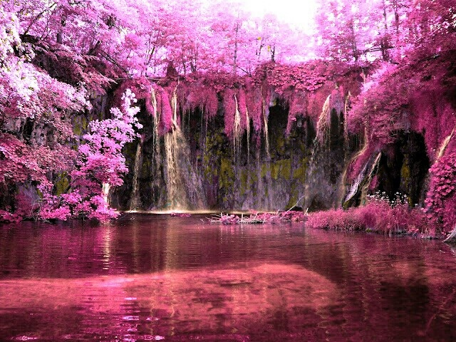 Pink waterfall | Nature (and some filters) | Pinterest ...