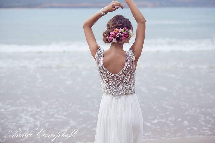 Blog OMG I'm Engaged - Vestido de Noiva Anna Campbell, para casamento na praia. Wedding dress.