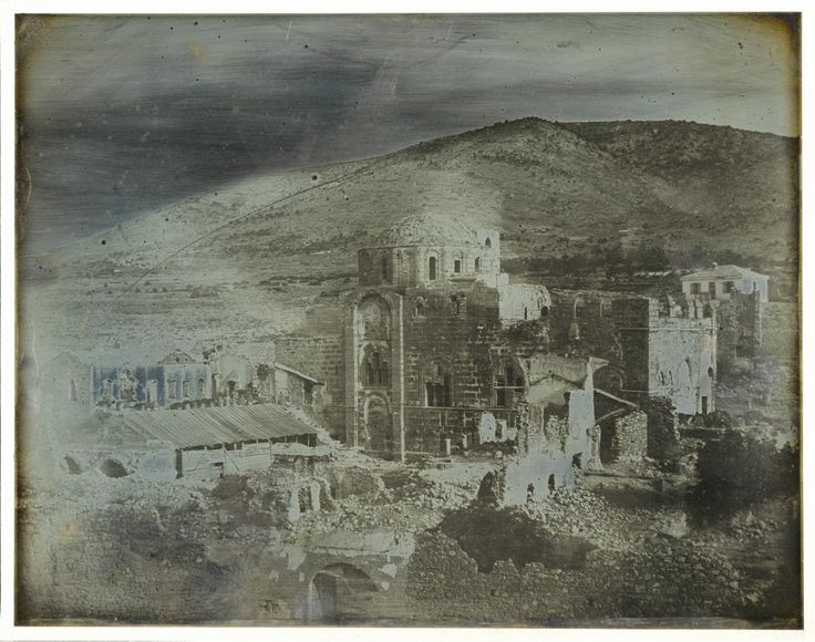Joseph Prangey - Daphni near Athens. Monastery taken from South West, 1843