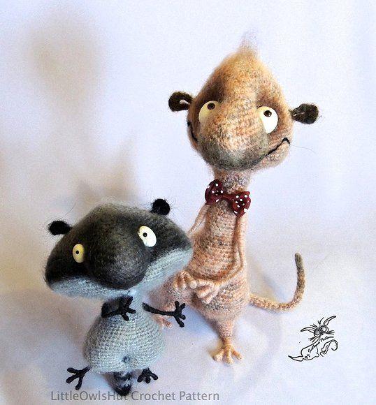 169 best images about Amigurumi roedores (ratones ratas ...