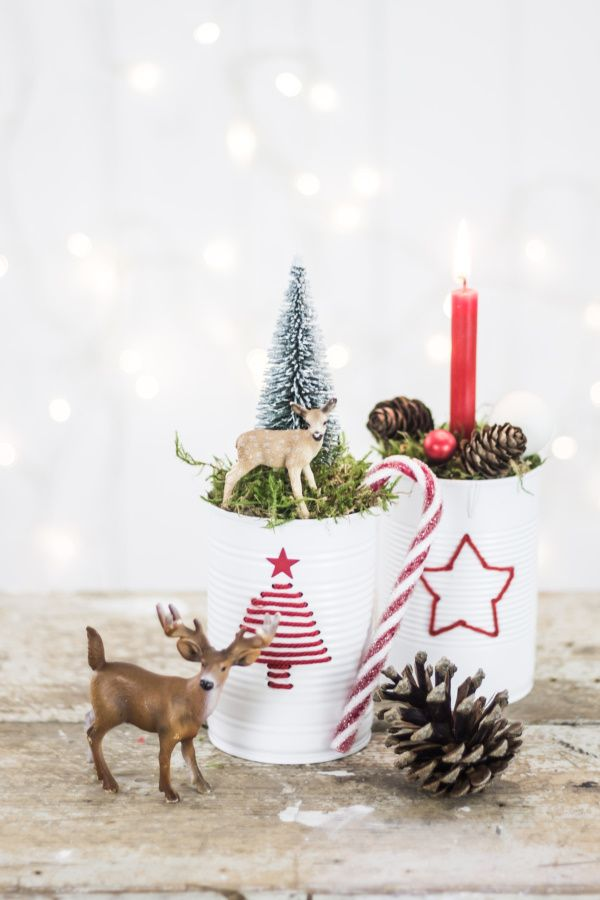 SO doing this...Upcycling DIY for Christmas: Out of cans...LOVE this...