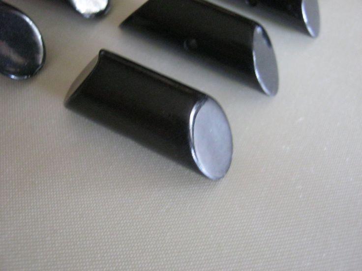 18 Stück Knebelknöpfe,Mamtel/Jacke,Schwarz,Länge ca.31-33 mm,Durchmesser ca.11 mm,Neu,Lübecker Knopfmanufaktur von Knopfshop auf Etsy
