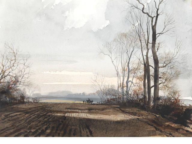 Rowland Hilder (British, 1905-1993) Landscape in Kent