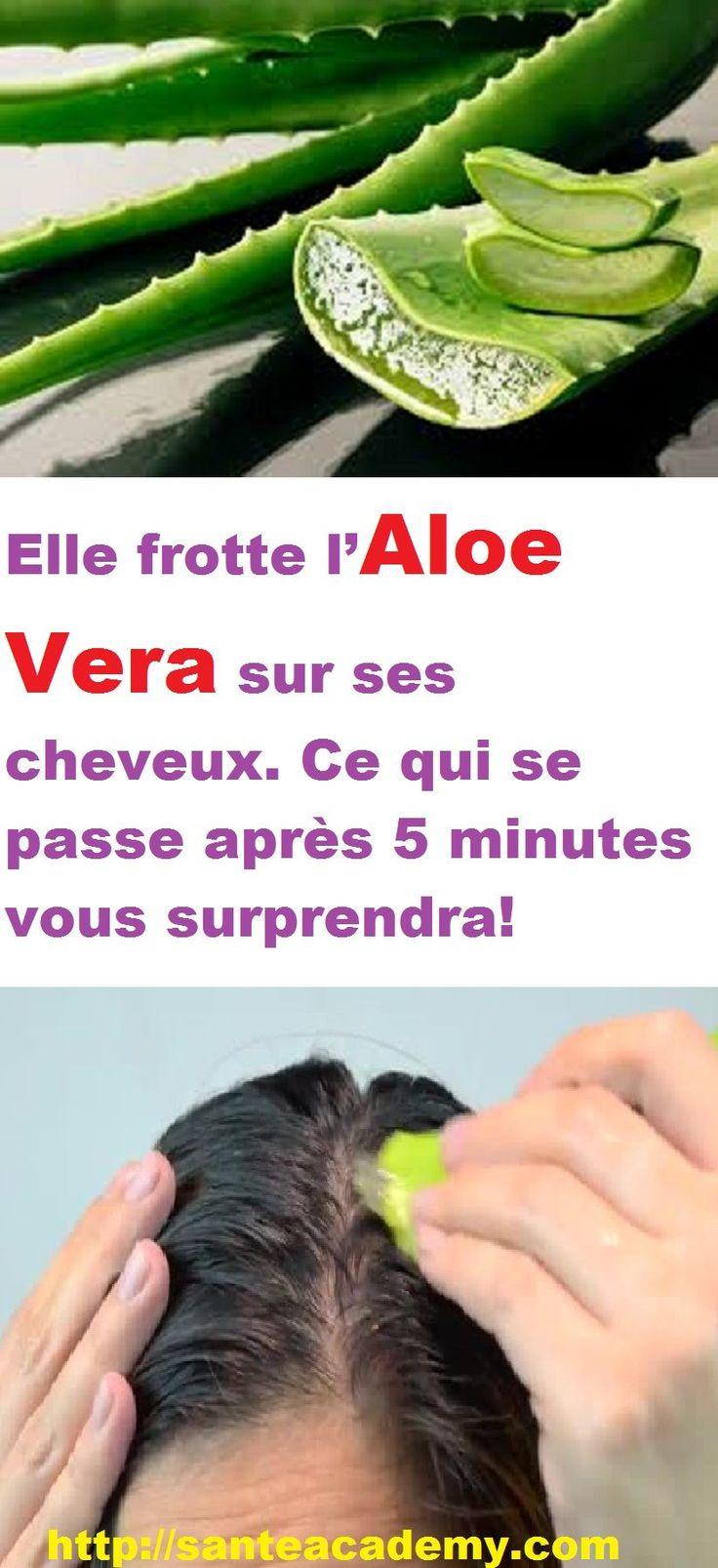 Elle frotte l'Aloe Vera sur ses cheveux. Ce qui se passe après 5 minutes vous surprendra!