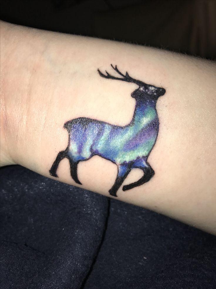 My Tromsø/Aurora inspired tattoo #tromso #auroraborealis #northernlights #reindeer