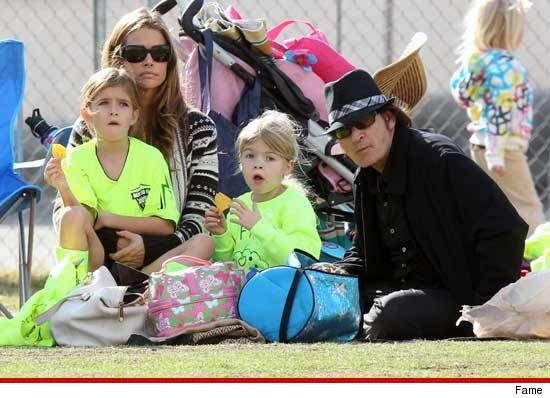 Densie Richards & Charlie Sheen -- One Big Happy Soccer Game