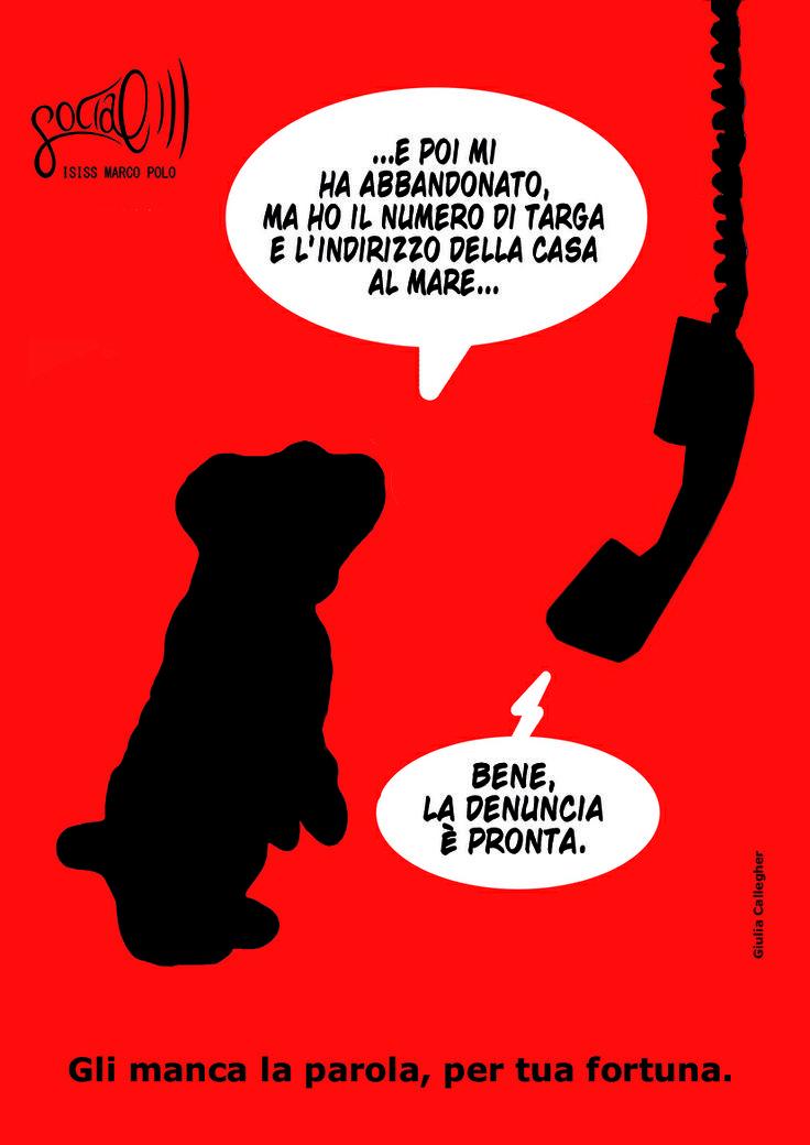 Campagna sociale contro l'abbandono di animali domestici. Giulia Callegher, 2011