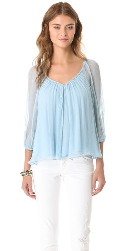 baby blue dvf top