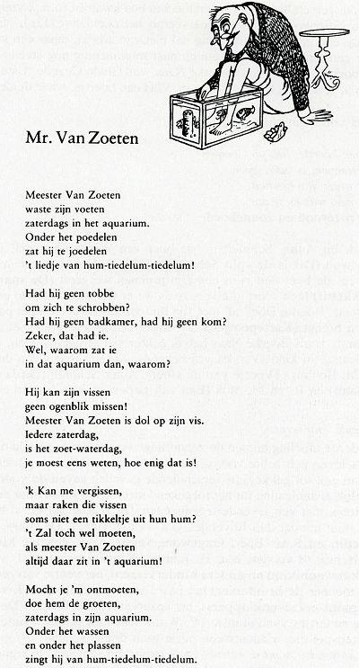 Mr. Van Zoeten, doe hem de groeten!