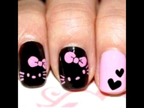 Uñas de hello kitty:-) :-) :-)