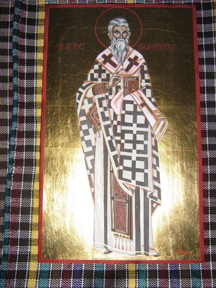 Sf. Dionisie Areopagitul, icoana pe lemn, 20x42 cm, VANDUT