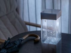 This Box Shows Tomorrow's Weather Forecast On Your Table With REAL Rain And Clouds