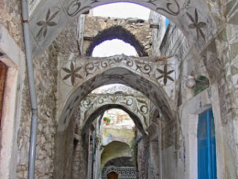 Town of Pirgi, Chios. Knows for its amazing geometrical design from hausfay.com