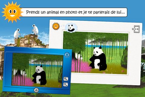 """Trouve-les tous: a la recherche des animaux (Knbmedia): learn about animals in their natural habitats with games and explanations (buy """"areas of the world"""" via in-app purchases for additional sets of animals); available in French, English, German, and Spanish; I'm planning to download this one because I think Griffin would appreciate an animal-related game that isn't explicitly trying to teach him French words (like the spelling games and stories)"""