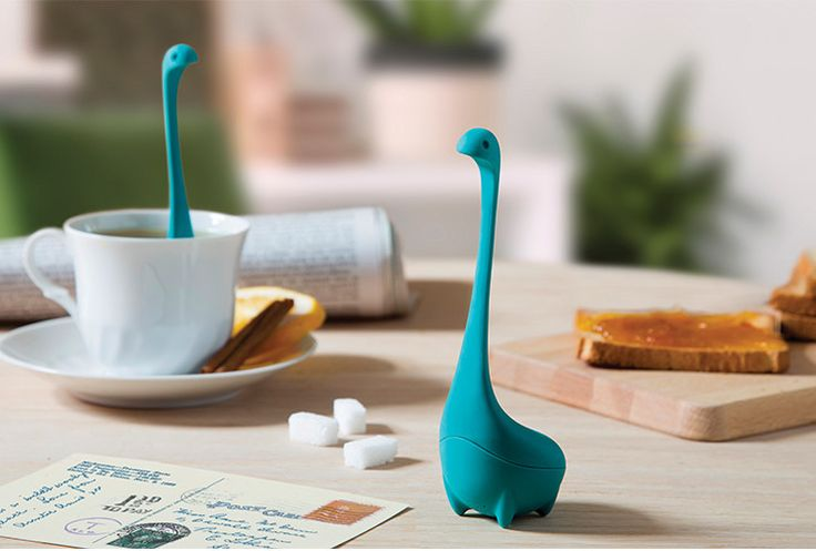 This tea infuser transforms your mug into a miniature Loch Ness.