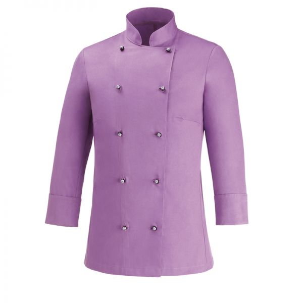 Lilla Woman. Chaqueta de mujer. 100% algodón. Color lila. Slim Fit. 10 botones. www.chefaporter.com