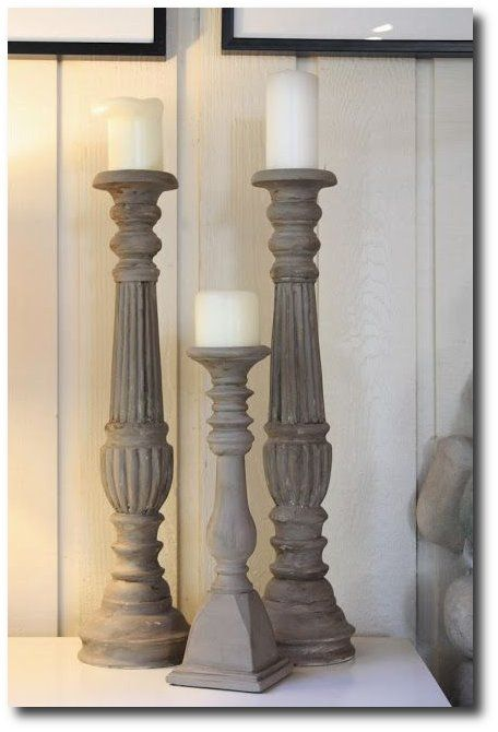 Chalk Paint CandleSticks