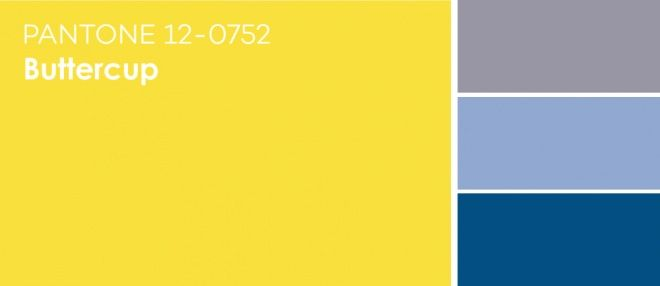 PANTONE Spring 2016 Buttercup — Лютиковый / Pairs Well With: Lilac Gray, Serenity, Snorkel Blue