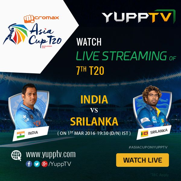 #INDvsSL: India won the toss and elect to bowl. Catch the  1st innings of #India bowling and #SriLanka batting live from Dhaka on #YuppTV #AsiaCupOnYuppTV Watch live @ http://www.yupptv.com/cricket/asiacup.html