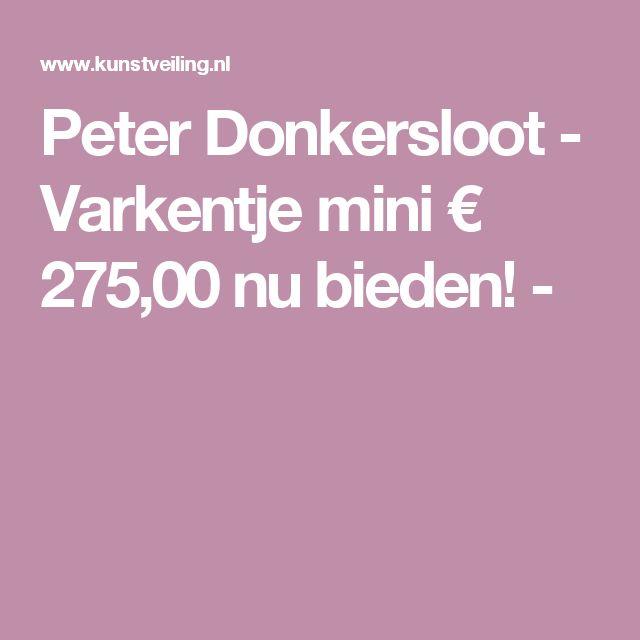 Peter Donkersloot - Varkentje mini € 275,00 nu bieden! -