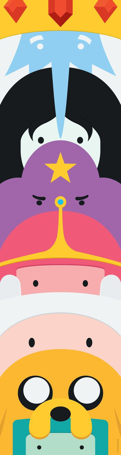 Adventure Time Totem Art Print Awesomesauce!!!!! What time is it  Adventure time!!!!!!!