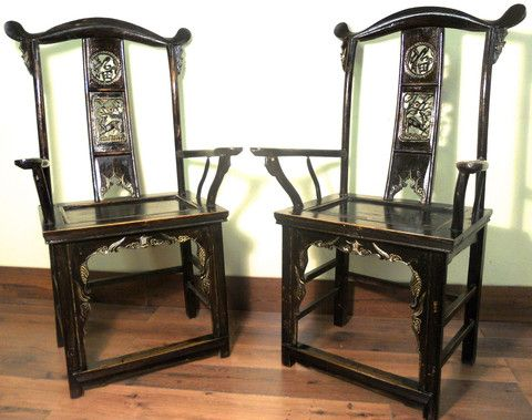 Antique Chinese High Back Arm Chairs (5889) (Pair), Circa 1800- - 218 Best Antique Chinese High Back Chairs/Arm Chairs Images On