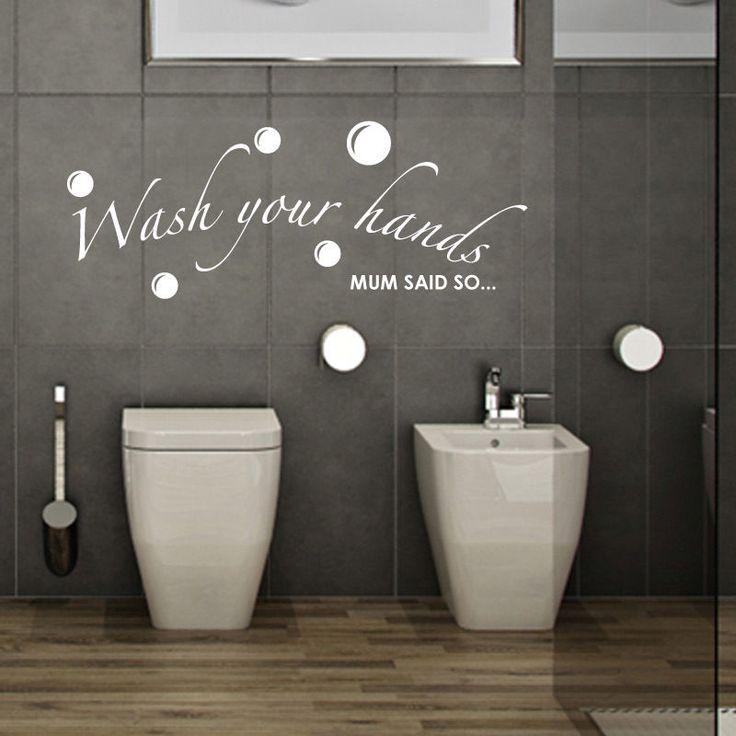 WASH YOUR HANDS MUM SAID SO Bathroom Wall Quotes Words Wall Sticker Decals    eBay. 17 best images about Bathroom Wall Stickers vinyl decals