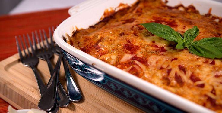 Receta Lasaña vegetariana a base de avena