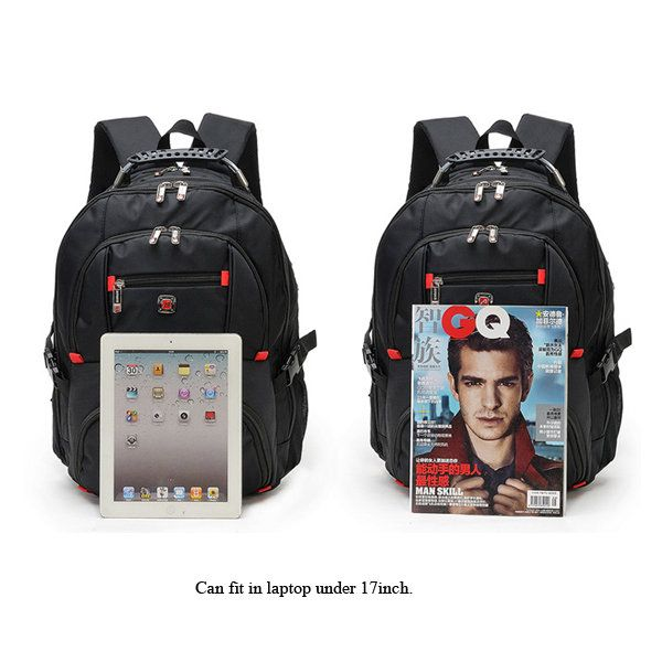 AUGUR 17inch Laptop Men Large Capacity Outdoor Travel Nylon Oxford Casual Backpa - US$51.34