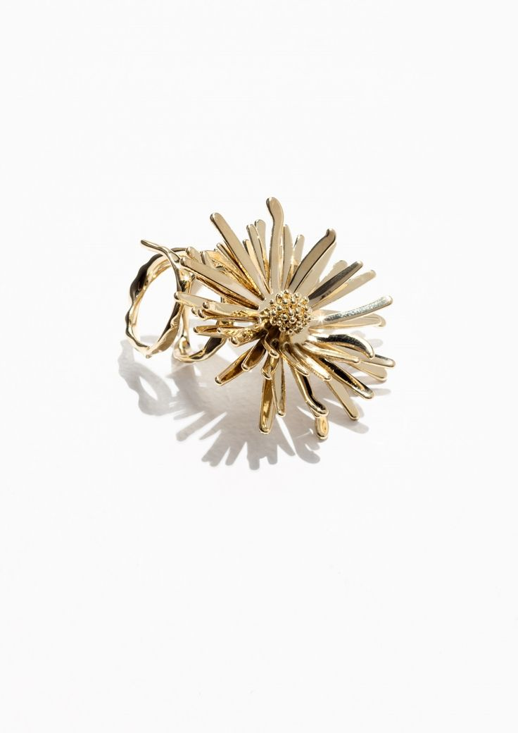 & Other Stories Flower Bomb Ring in Gold