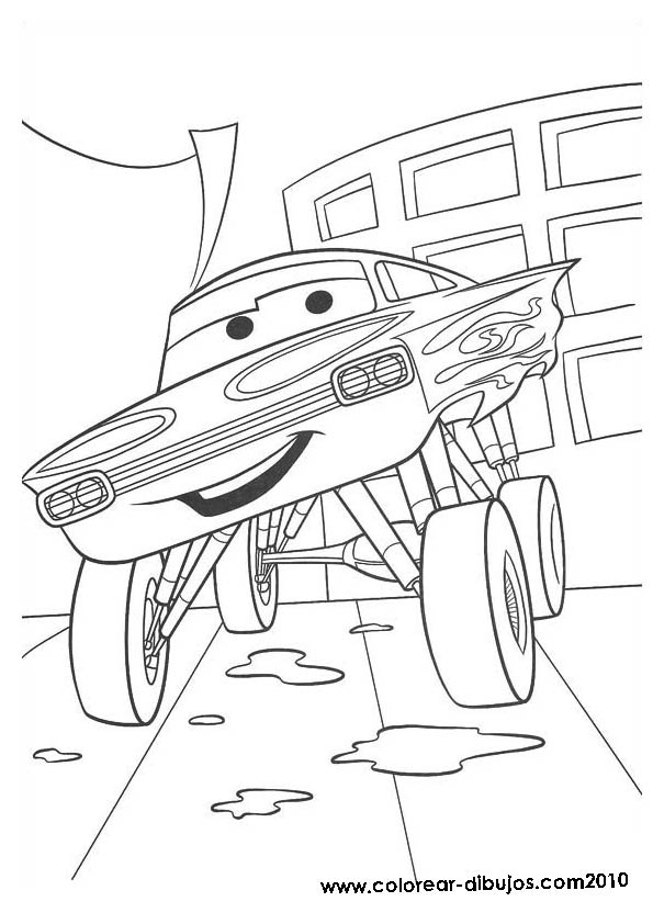 coloring pictures cars disney; coloring pictures ramone
