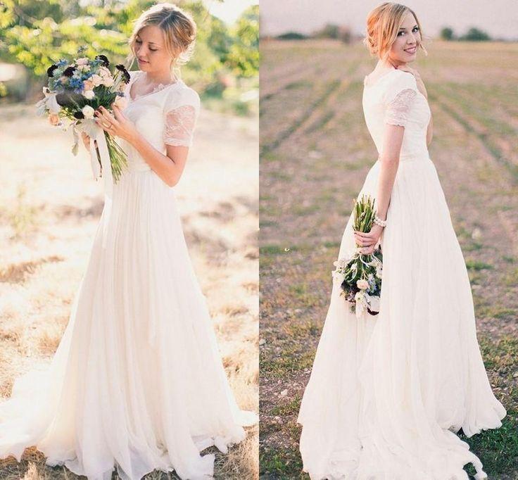 Greek Style A Line Chiffon Wedding Dress 2017 Simple Sash: 25+ Best Ideas About Garden Wedding Dresses On Pinterest